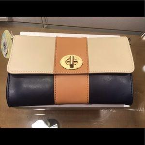 Spartina 449 Genuine Leather Crossbody Purse.